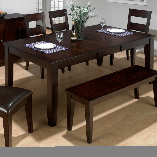 Jofran Dark Rustic Prairie Butterfly Leaf Dining Table Contemporary Dinin
