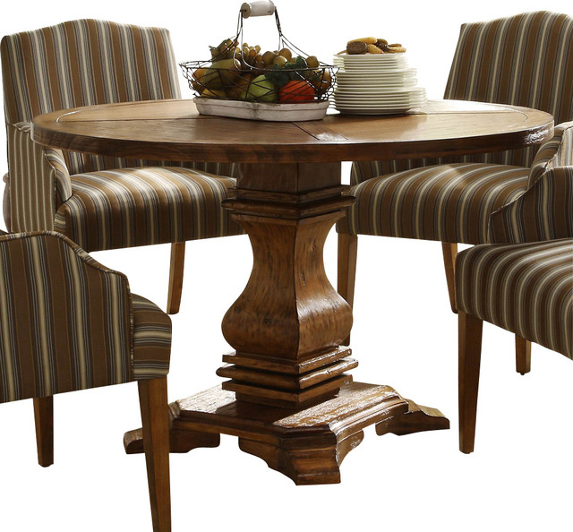 Houzz Dining Table: Homelegance Euro Casual Round Pedestal Dining Table In