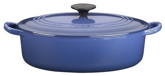 Le Creuset 3.5-Quart Cobalt Oval French Oven modern-dutch-ovens-and-casseroles