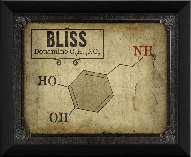 Bliss Molecule Framed Artwork contemporary-prints-and-posters