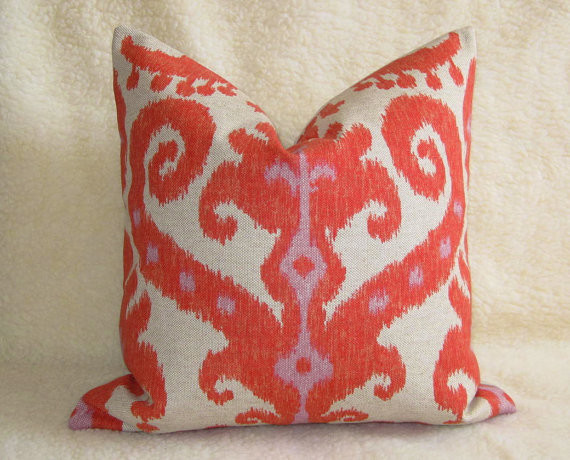 Ikat Designer Pillow by Willa Skye Home mediterranean pillows