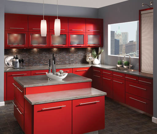 Perfect Red Orange Kitchen Ideas Redorange Throughout Design