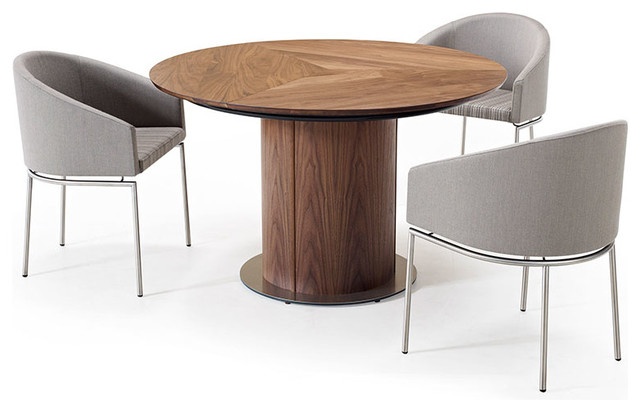 Round Pedestal Dining Table Modern Dining Tables By Wharfside