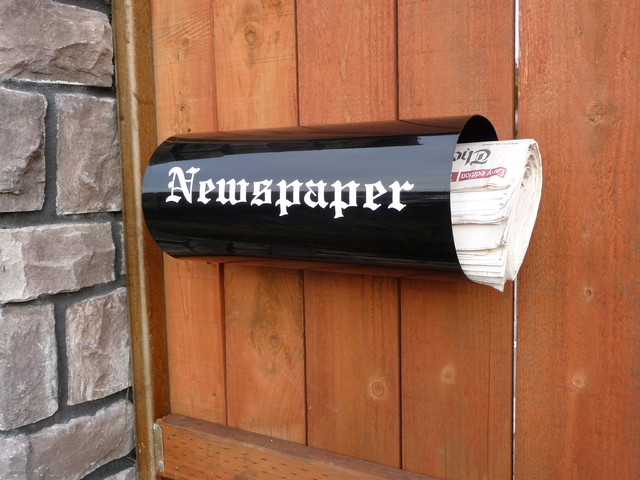 Newspaper Holder - Contemporary - Mailboxes - portland - by Purple Rain