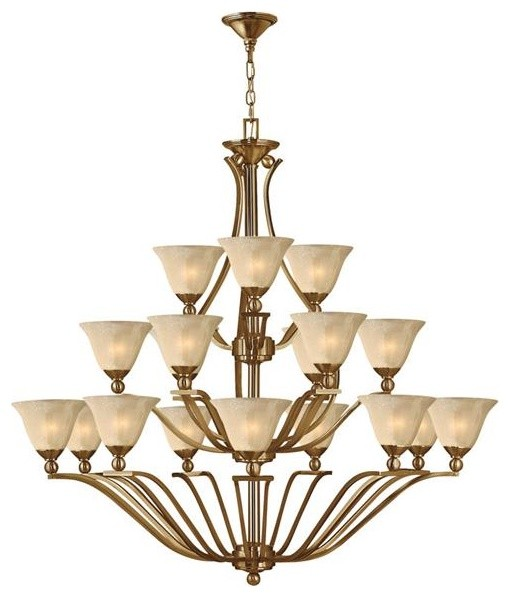 Hinkley Lighting 4659BR 18 Light Chandelier Bolla Collection chandeliers