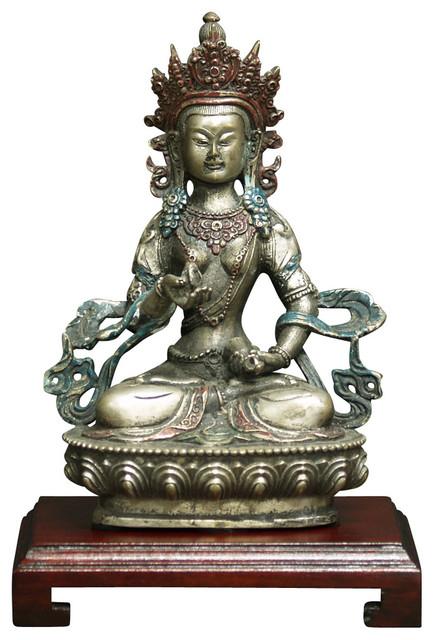 Hand Forged Bronze Meditating Buddha asian-home-decor