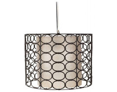 Weathered Drum Gray Oval Ring Lamp contemporary pendant lighting