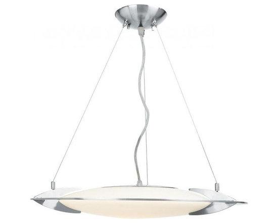 Access Lighting 50101-BS/OPL One Light Steel Up Pendant -