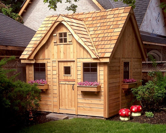 Lauren's Cottage Playhouse 9x9 - Wooden Cedar Playhouse -
