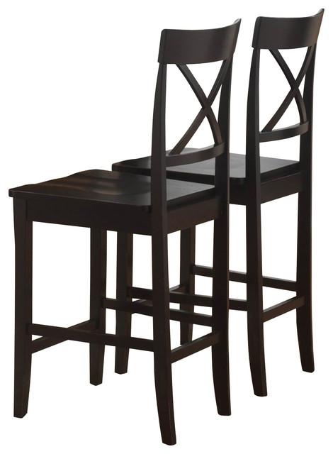 Homelegance Billings Wood Counter Height Chair in Black