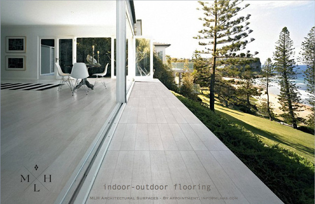 Indoor outdoor porcelain wood flooring other metro by mlh