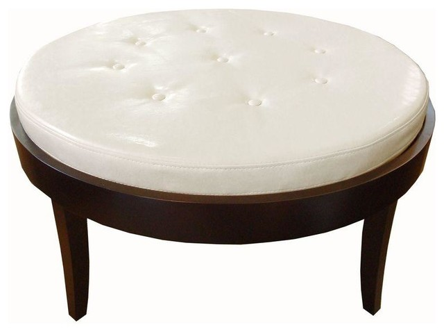 Round Cocktail Ottoman Upholstered Furniture Table Styles