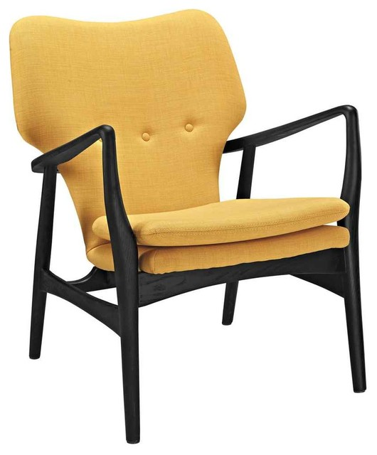 Mid century modern lounge chair with arms contemporary for Mid century modern armchairs