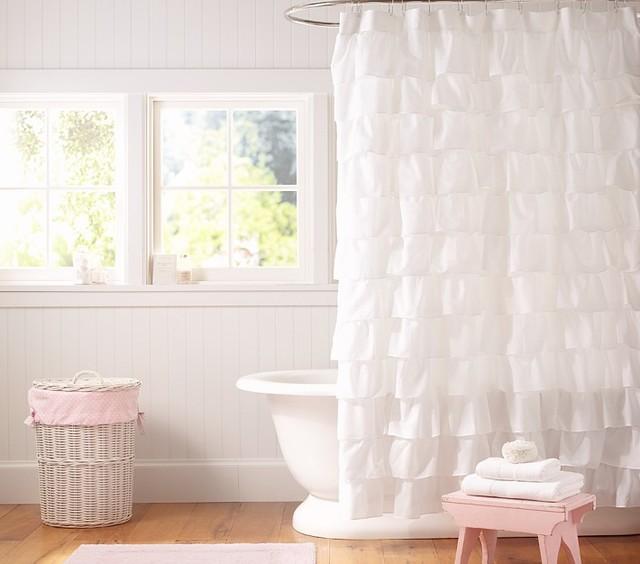 Ruffle Shower Curtain shower-curtains