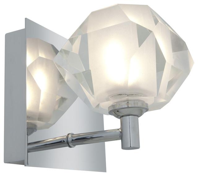 Access 'Glas'e' 1-light Chrome Diamond Vanity Fixture contemporary-ceiling-fans
