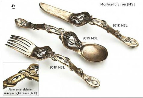 Fork, Spoon, or Knife Pull - Cabinet And Drawer Handle Pulls - salt lake city - by Rustica Hardware