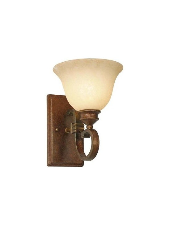 Golden Lighting - Golden Lighting 3711-1W Rockefeller 1 Light Bathroom Wall Sconce - Golden Lighting 1 Light Bathroom Wall Sconce