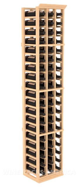 3 Column Standard Cellar Rack in Pine with Satin Finish traditional-wine-racks