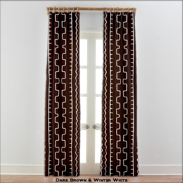 african mudcloth curtains dark brown 22 other colors