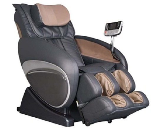 Osaki OS-3000D Flagship Executive Reclining Zero Gravity Massage Chair - Features:- Zero gravity design- Designed with a set of S-track movable intelligent massage robot, special focus on the neck, shoulder and lumbar massage according to body curve- Automatically detect the whole body curve as well as make micro adjustments, which brings more humanistic and scientific massage enjoyment- Designed with six unique auto-programs: Healthcare, Relax, Therapy, Smart, Circulation and Demo- Automatic massage for the upper body (shoulder, neck, back and lumbar), the low body (buttock, thigh, calves and feet)- Manual massage for the upper body with three options, full body, partial and fixed- Six Massage styles - rolling, kneading, clapping, shiatsu, Swedish and combo- With five levels of speed & intensity- Three kinds of width adjustable settings, Wide, Medium and narrow- Air pressure massage for back (two airbags), with five intensity options- Air pressure for lower body (twenty-six airbags), with five intensity options- Powerful vibration massage for buttocks- Calf rest can be lifted and stretched, backrest can be lifted- LCD displayer- Auto timer 5-30 options- Wireless mini-controller- 25 air bags, 10 in the feet, 10 in the calves, 3 in the seat and 2 in the back