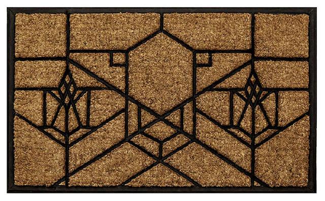 Frank lloyd wright bradley house doormat craftsman doormats by maclin studio - Frank lloyd wright rugs ...