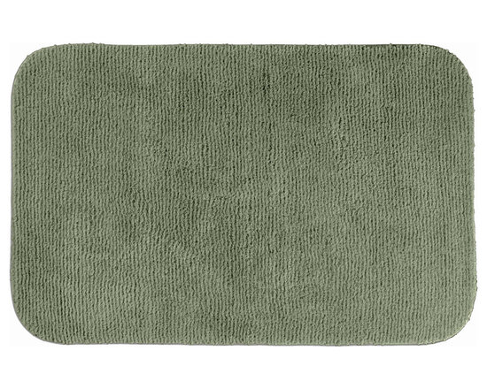 "Sands Rug - Cheltenham Deep Fern Washable Bath Rug (2'6"" x 4'2"") - Add a layer of plush comfort and safety with the inviting Cheltenham bath and spa rug collection. Each piece, whether a bath runner, bath mat or contoured rug, is created from soft, durable, machine-washable nylon. Each floor piece is backed with skid-resistant latex for safety."