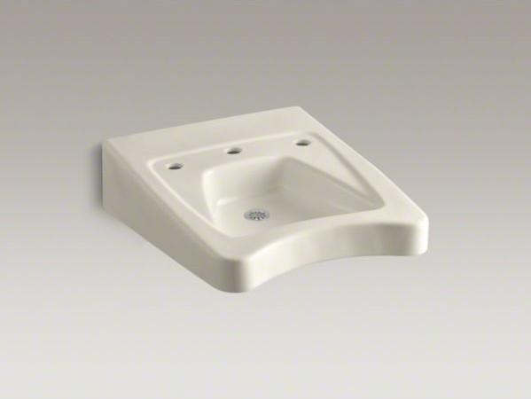 "KOHLER Morningside(TM) 20"" x 27"" mounted/concealed arm carrier wheelchair bathro contemporary-bathroom-sinks"