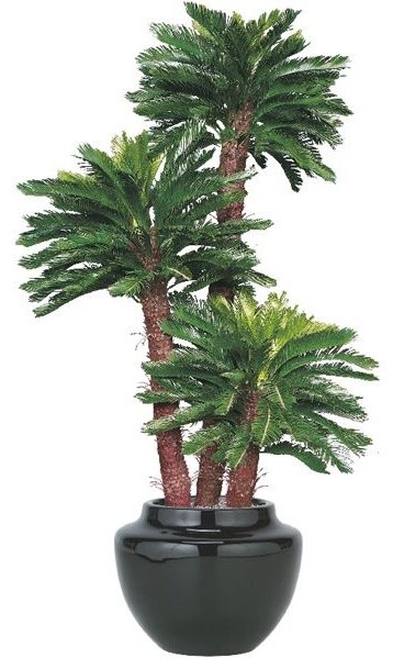artificial outdoor king sago palm tree artificial flowers plants and trees chicago by home. Black Bedroom Furniture Sets. Home Design Ideas
