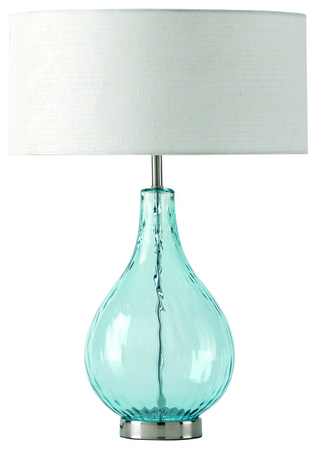 lucy aqua table lamp contemporary table lamps by. Black Bedroom Furniture Sets. Home Design Ideas