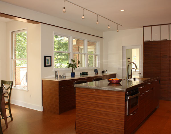 view from entry modern-kitchen