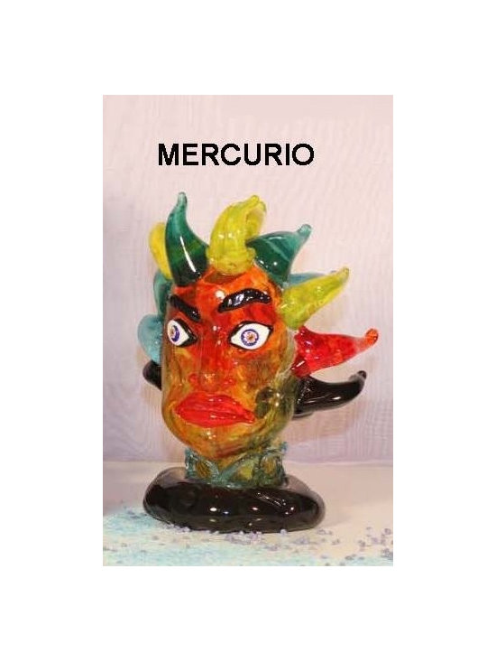 Murano Glass Sculptures and Figurines - Murano Glass Mercurio bust - COA and made to order.  More available so please contact us