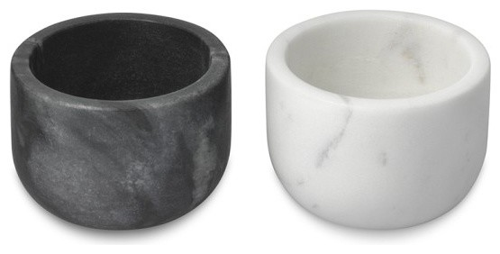 Marble Salt And Pepper Shaker Set Traditional