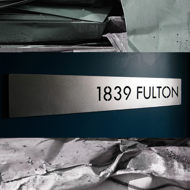 Deluxe Address Sign - Modern - House Numbers - indianapolis - by Moda Industria
