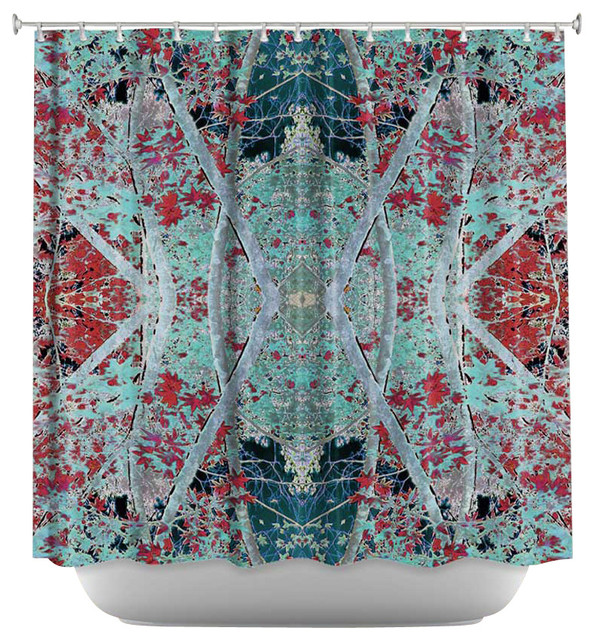 Shower Curtain Artistic - Snowy Evening contemporary-shower-curtains