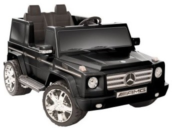 Kid Motorz Mercedes Benz G55 AMG Two Seater Battery Powered Riding Toy - Black modern-kids-toys-and-games