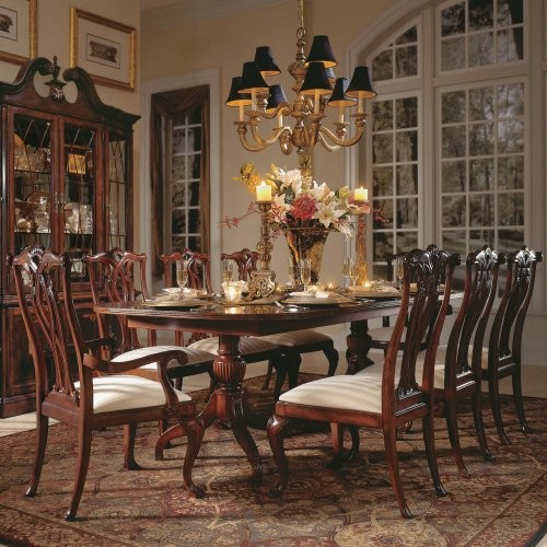 American Drew Cherry Grove 45th 9 pc. Pedestal Dining Table Set traditional-dining-tables