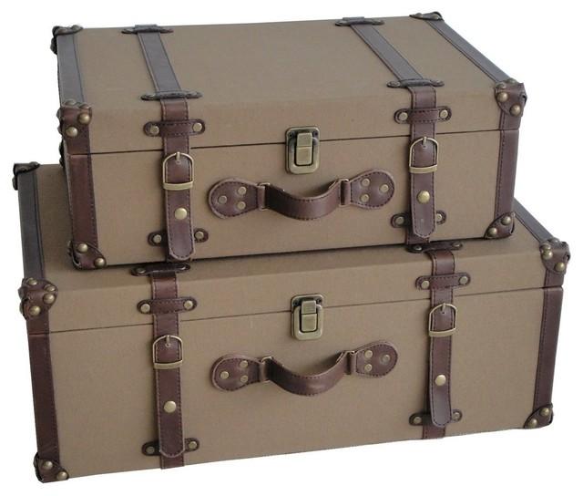 Valencia Canvas Suitcases Modern Decorative Trunks