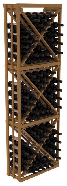 Full Height Diamond Bin Kit in Redwood, Oak + Satin Finish contemporary-wine-racks
