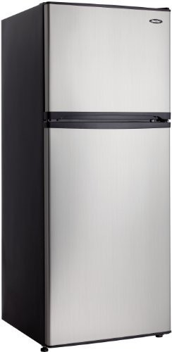 10.0 cu.ft. Mid-size Refrigerator, Black cabinet with Stainless Steel Look door modern-refrigerators
