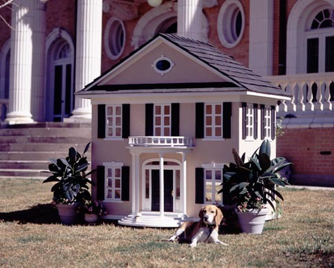 Colonial Mansion Dog or Cat House traditional-dog-houses