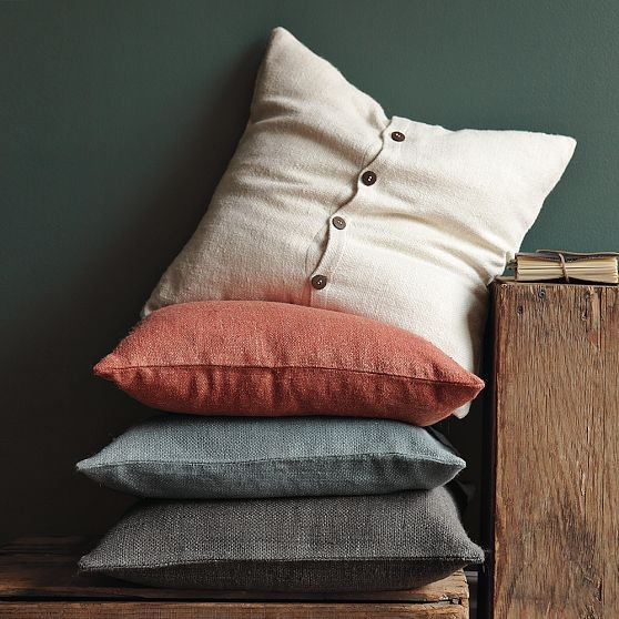 Solid Silk Hand Loomed Pillow Cover modern-pillows