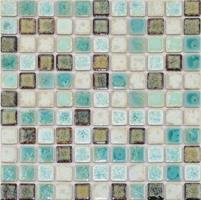 Porcelain tile mosaic square shower tiles bath wall for Bathroom tile stickers