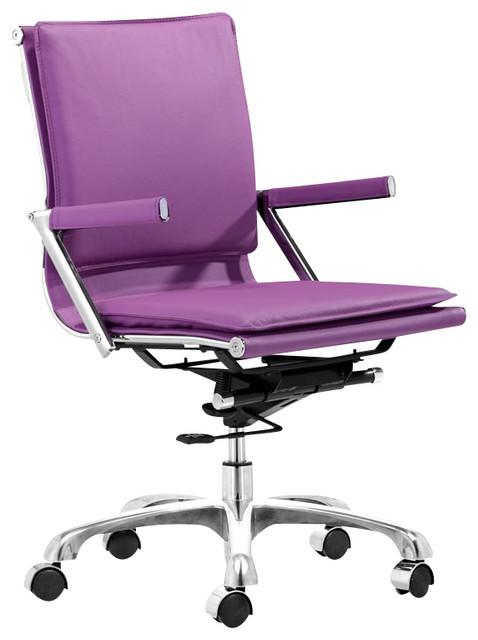 Zuo Lider Plus Office Chair Purple modern-task-chairs