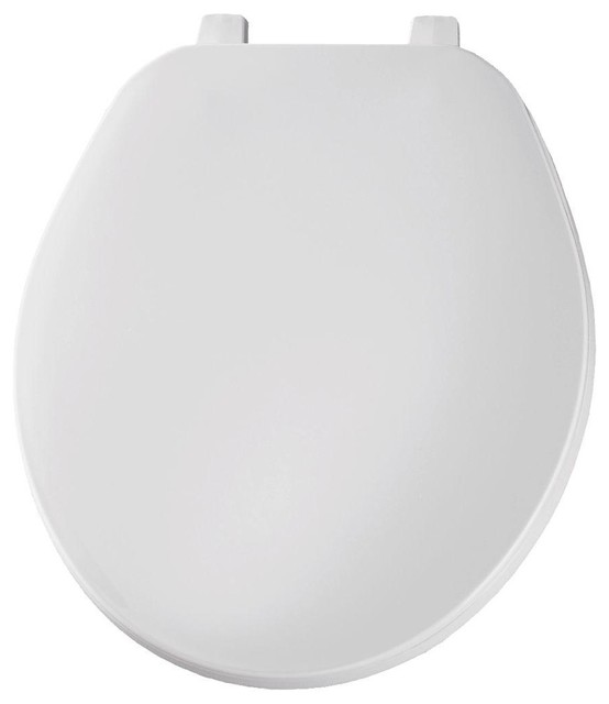 Glacier Bay Seats Round Closed Front Toilet Seat in White