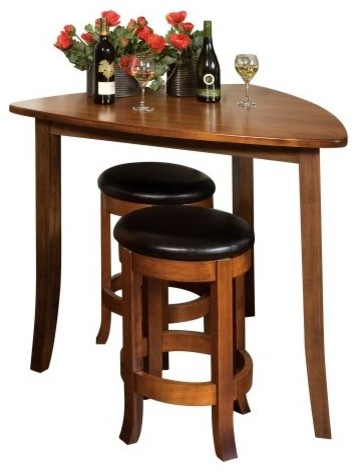 Superb Corner Bar Table Counter Height Pub Table