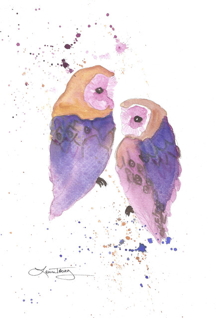 Owls Painting artwork