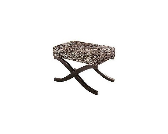 Leopard Animal Print Accent Stool - A little leopard goes a long way. Grab a pair of these very cute X-base stools. Place them a the end of a bed, or use them for extra seating in the living room, or place them around a library table.