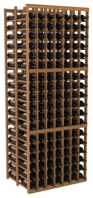 7 Column Double Deep Cellar in Redwood, Oak + Satin Finish contemporary-wine-racks
