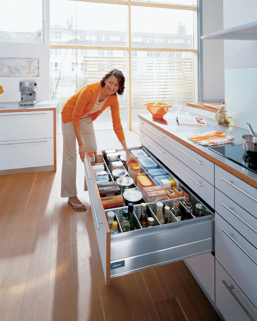 Blum kitchen accessories storage drawer Contemporary