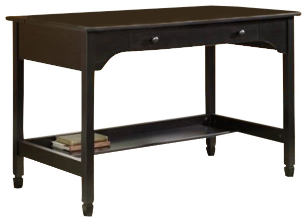 Sauder Edge Water Convertible Laptop Desk in Black transitional-office-carts-and-stands